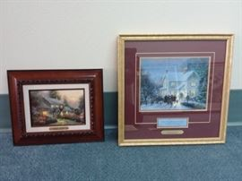 Two Thomas Kinkade Prints with Certificates of Authenticity