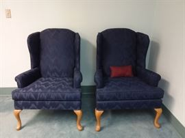 Two Wingback Chairs by Broyhill