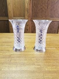 Waterford Crystal and Silver Candleholders