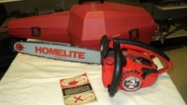Never Used 1975 Homelite Chainsaw for collectors !