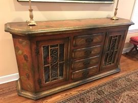 Hand painted sideboard/buffet