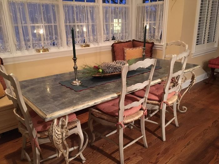 Antique French zinc top table!