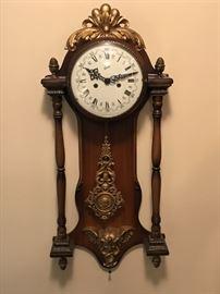Beautiful wall clock with  cherub details