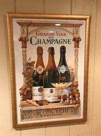Collection of French framed posters