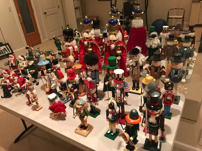 Tons of nutcrackers and Christmas figures