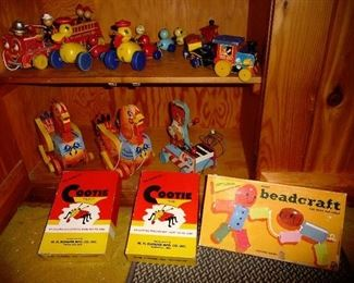 a few of the toys  / VERY old Fisher Price
