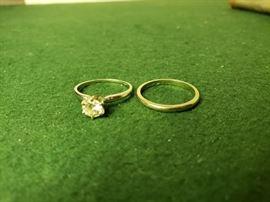 004 HQ Diamond Wedding Band Set