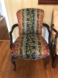 #18	blue coral arm chair 	 $125.00