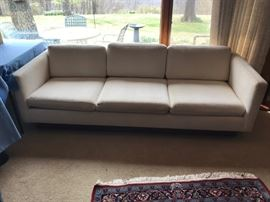#1	Mid Century cream color sofa 7 foot seat height 15in high 	 $250.00