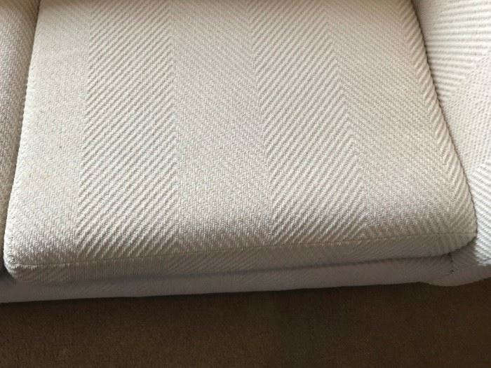 #1Mid Century cream color sofa 7 foot seat height 15in high  $250.00