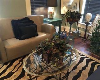 small sofa, rugs too