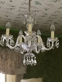 4- Hand made crystal from Austria chandelier.