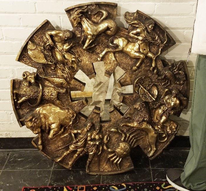 83- Vintage Mid Century Finesse Originals Zodiac Sunburst Mirror
