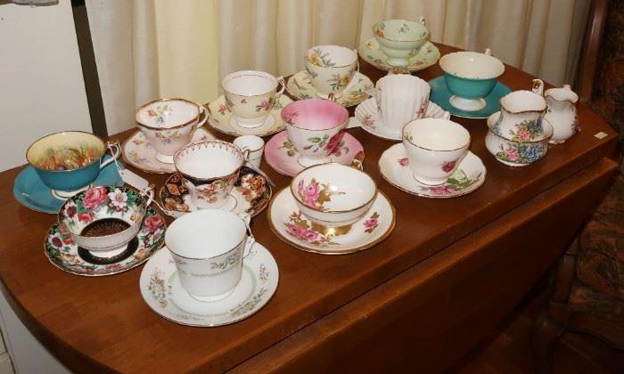 English tea cups