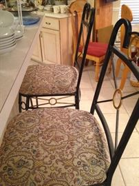 One of two matching bar stools