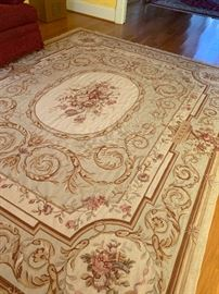 Chinese Aubusson Oriental Rug - Hand Made - 100% Wool...we have two more of this same style rug available to purchase