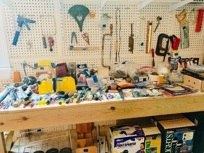 Garage stuff! Hand tools, painting supplies etc