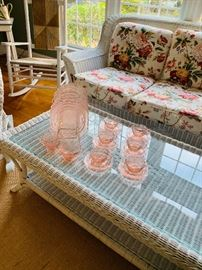 Pink depression ware