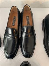 Black Ferragamo Penny Loafers