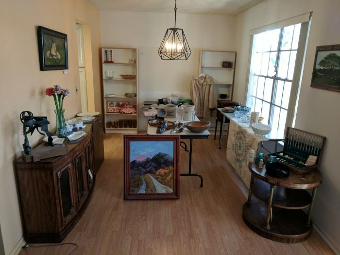 From fine collectibles to excellent original art to interesting household items, there is something for nearly everybody in this estate!