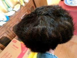Genuine fur ladies' hat. Gee, looks like a tribble. Looks better in real life.