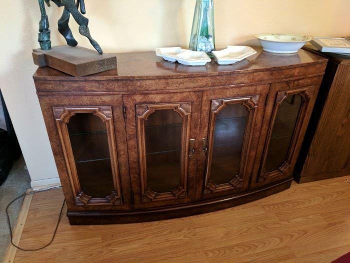 Floor display cabinet, mid-century.