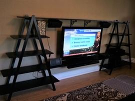 Nice Homemade Shelving System (TV not for sale)