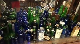 1800s bottles real vintage blue cobalt