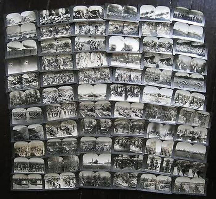 1400 stereoviews and 5000 8x10 press photos