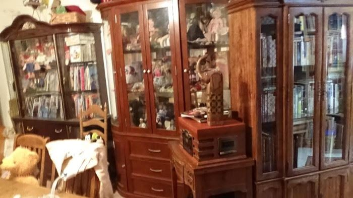 18 china cabinets lots solid wood furniture