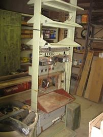 An industrial rack originally used for telephone and radio equipment.