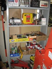 Automotive misc.  There are also vintage car parts, gauges, headlight, car horn,light bulbs.
