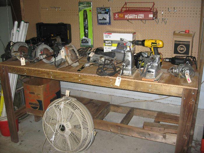 Various bench tools.