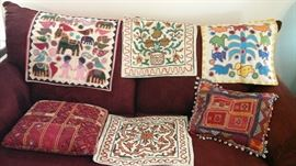 Some of the exotic  pillow cases