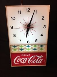 Vintage Coca Cola light up clock