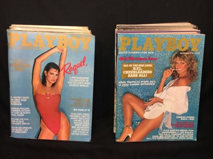 Tons of vintage Playboys, Hustlers, Oui, Penthouse magazines