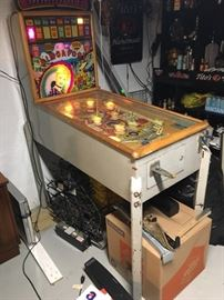 Mid century Singapore gambling pinball machine works!  Super cool