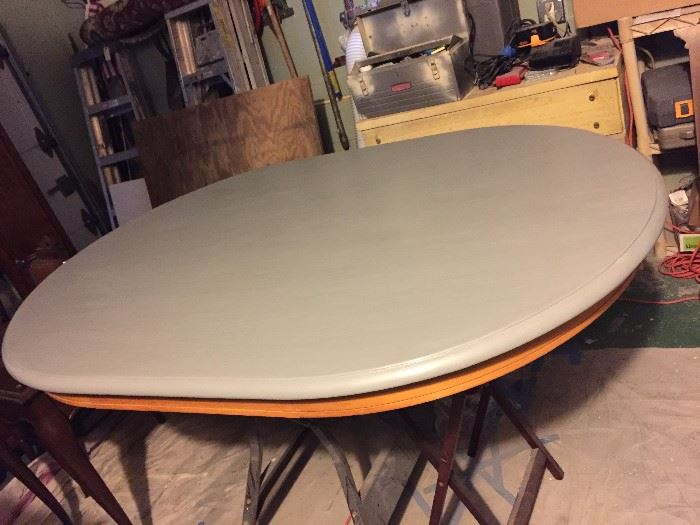Oval chalk painted dining Table