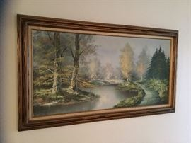 Forest scene oil painting