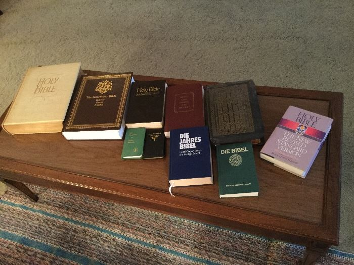 Some of the Bibles in this collection