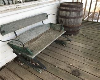 Antique Buggy Seat/Bench,  Antique  Barrel