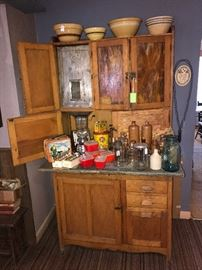 Antique Hoosier Cabinet