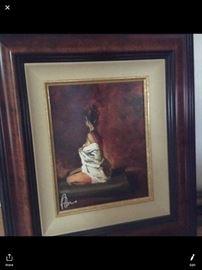 Framed Peter Oneil Giclee