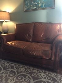 Haverty's Leather Loveseat