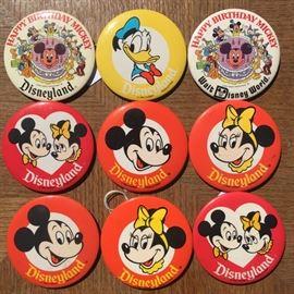 Vintage Disneyland Buttons