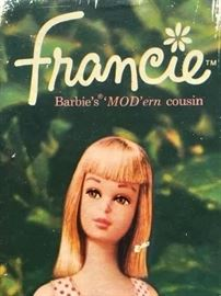 Vintage Circa 1962 Barbie Francie Doll w/ Box