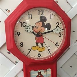 Vintage Mickey Mouse Wall Clock
