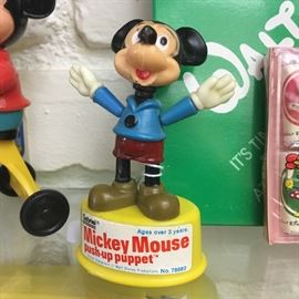 Vintage Mickey Mouse push-up puppet toy