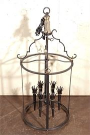 7. Monumental French 40s Style Lantern, after Gilbert Poillerat