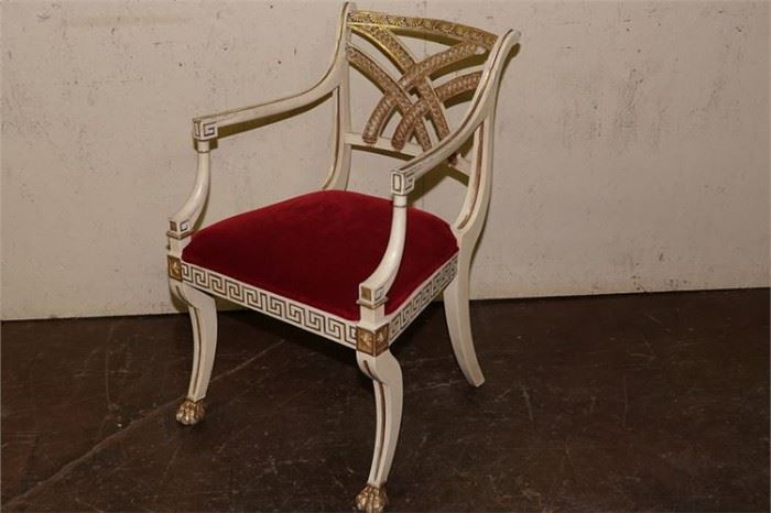 8. Regency Style Painted Armchair